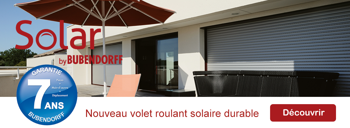 BAIES FERMETURES VOLET ROULANT SOLAIRE ID3
